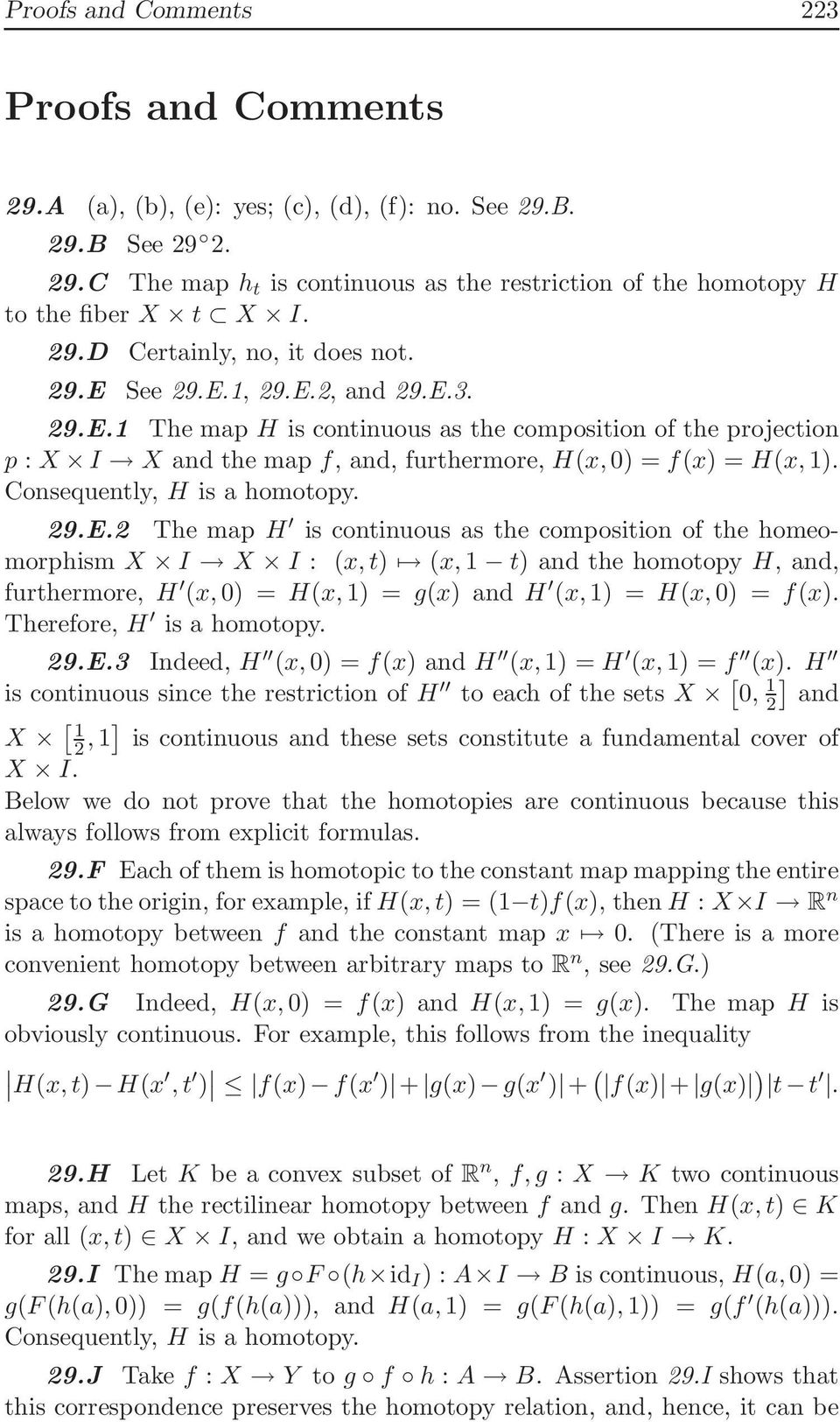 Consequently, H is a homotopy. 29.E.