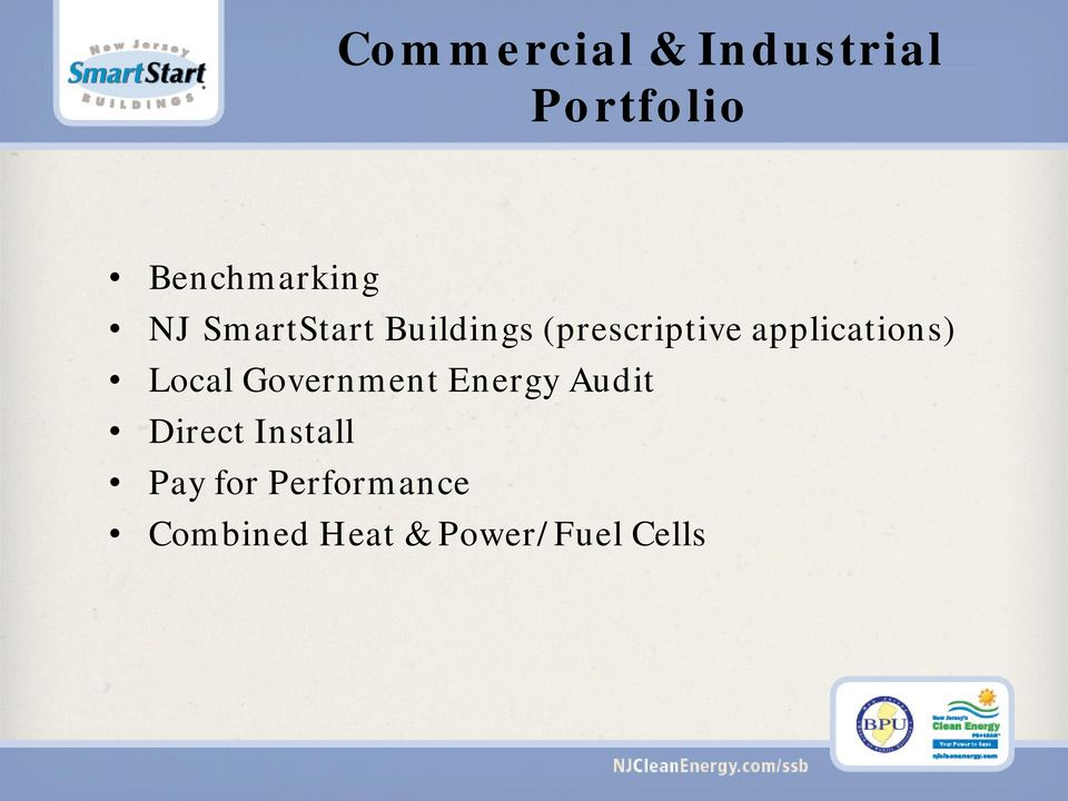 applications) Local Government Energy Audit