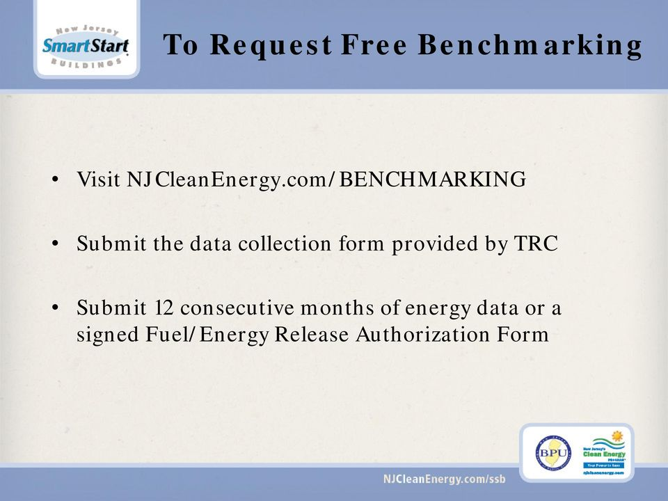 provided by TRC Submit 12 consecutive months of