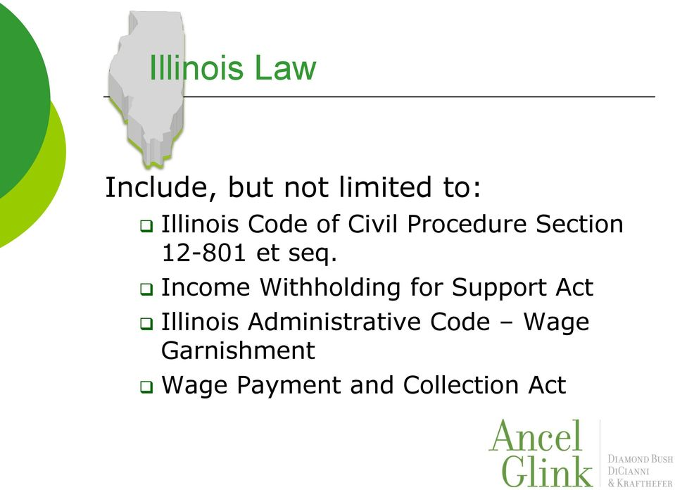 Income Withholding for Support Act Illinois