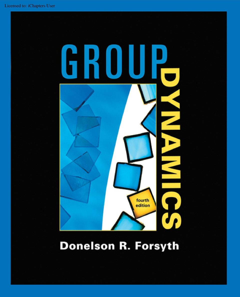 group dynamics forsyth 6th edition pdf download
