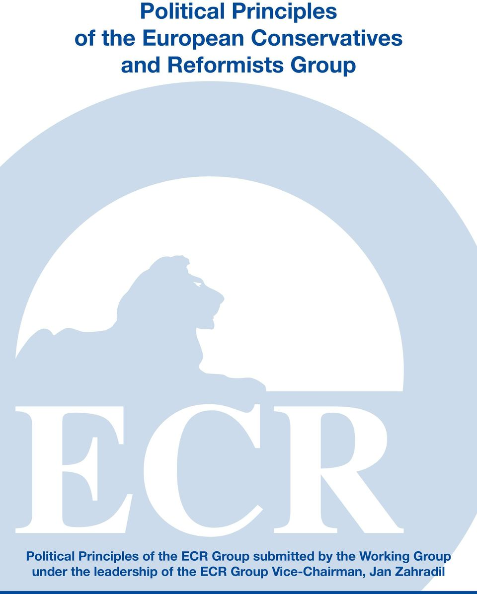 ECR Group submitted by the Working Group under the