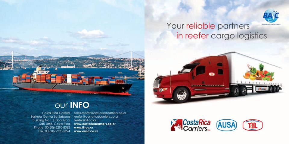 00-506-2290-5294 our INFO sales.reefer@costaricacarriers.co.cr reefer@costaricacarriers.