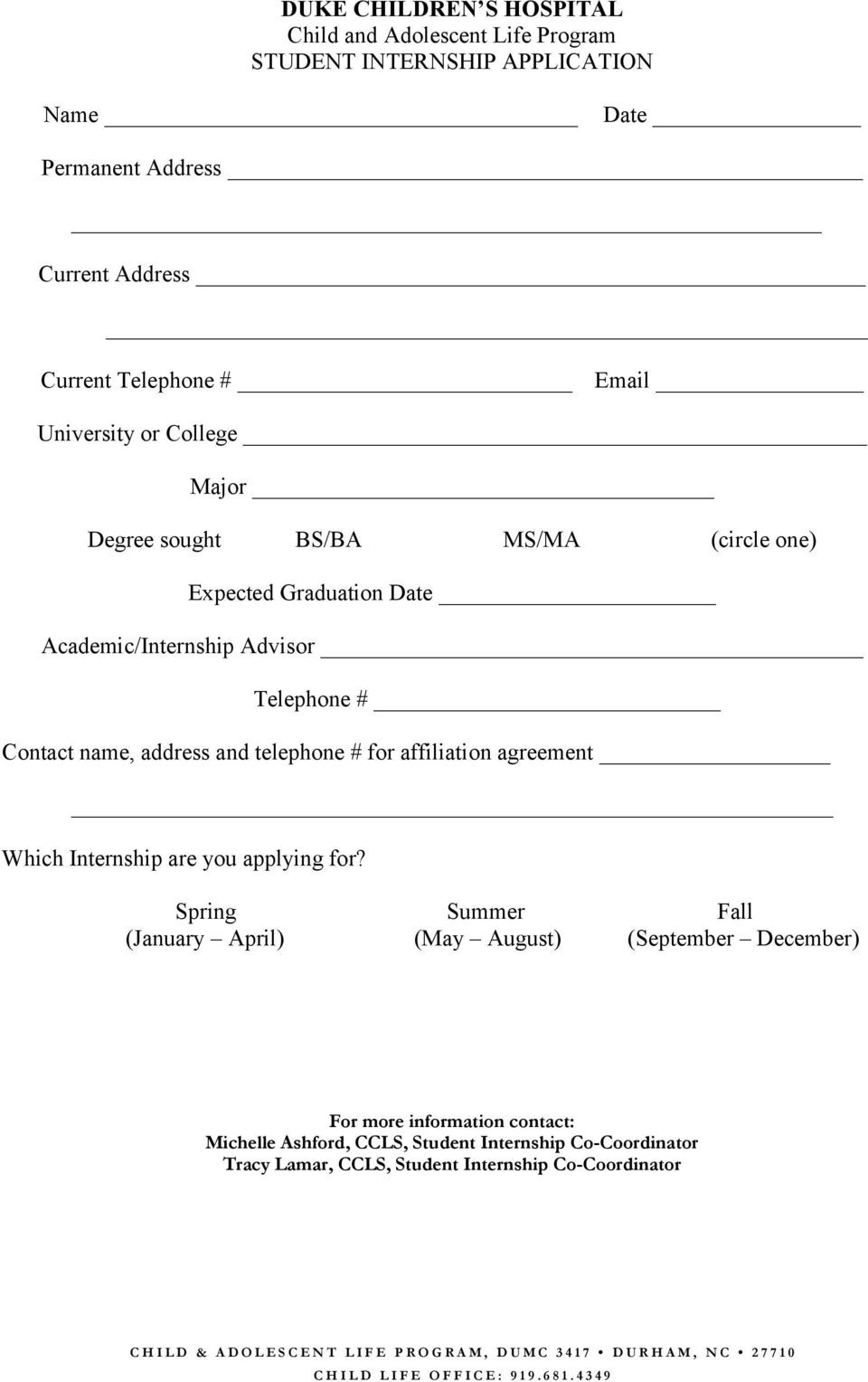 for affiliation agreement Which Internship are you applying for?