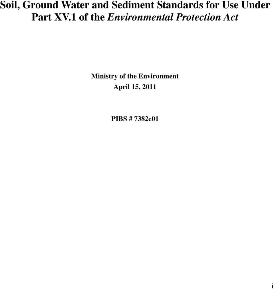 1 of the Environmental Protection Act