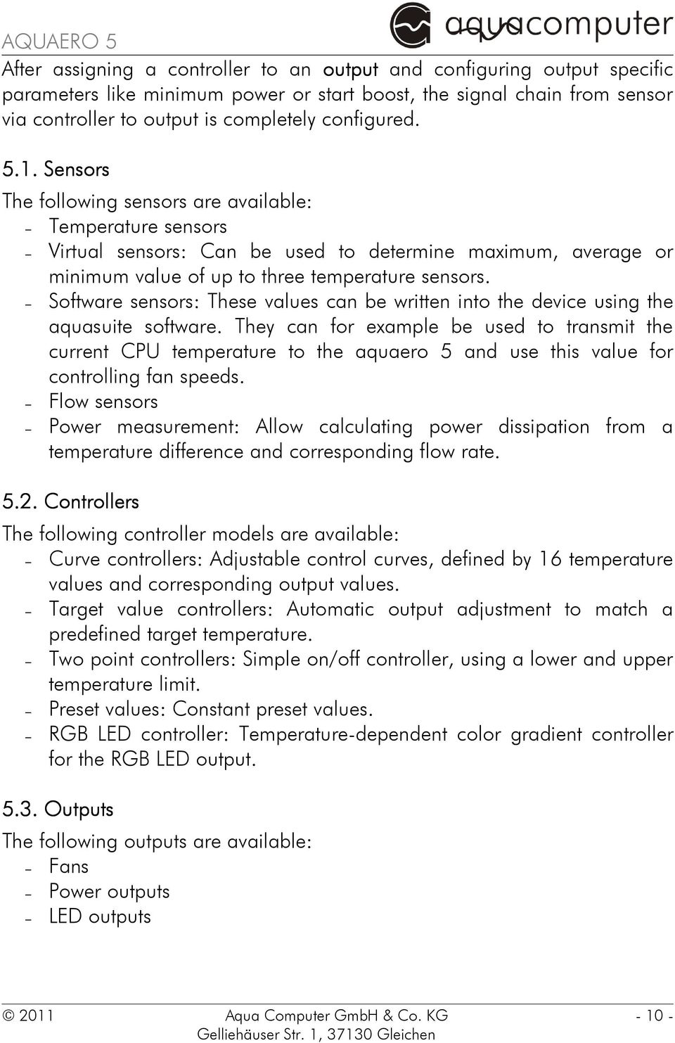 Software sensors: These values can be written into the device using the aquasuite software.