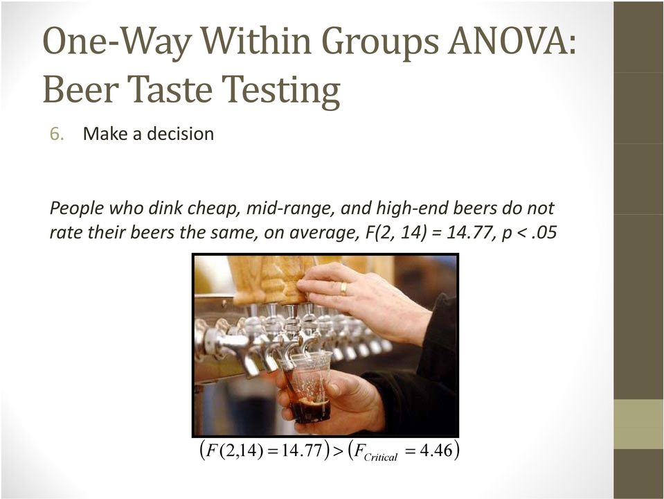 high-end beers do not rate their beers the same, on