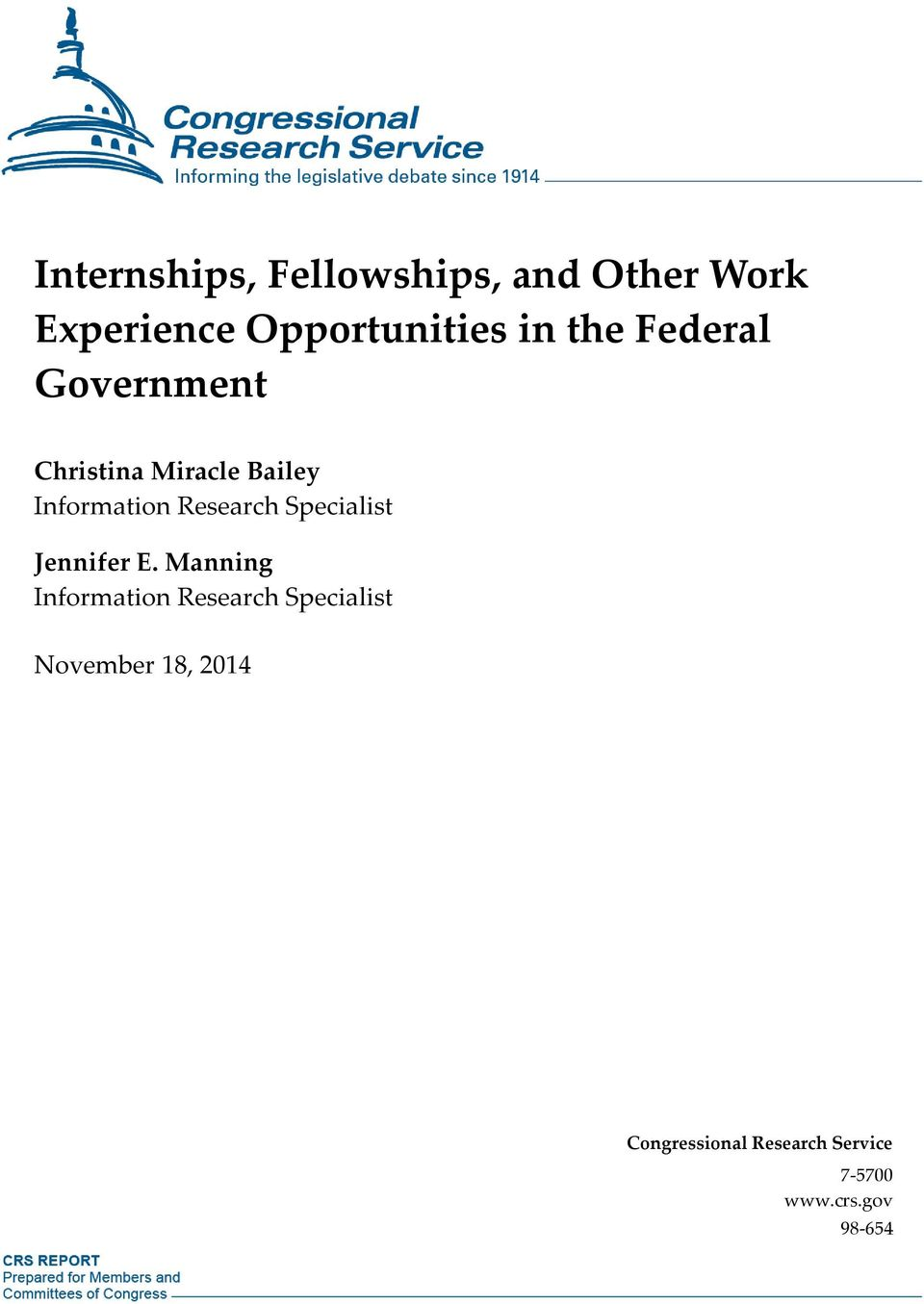 Internships, Fellowships, and Other Work Experience