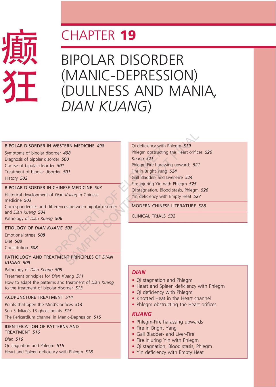 BIPOLAR DISORDER (MANIC-DEPRESSION) (DULLNESS and MANIA