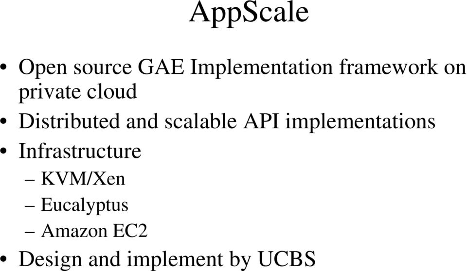 implementations Infrastructure K/Xen