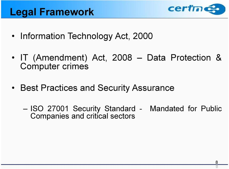 Best Practices and Security Assurance ISO 27001 Security