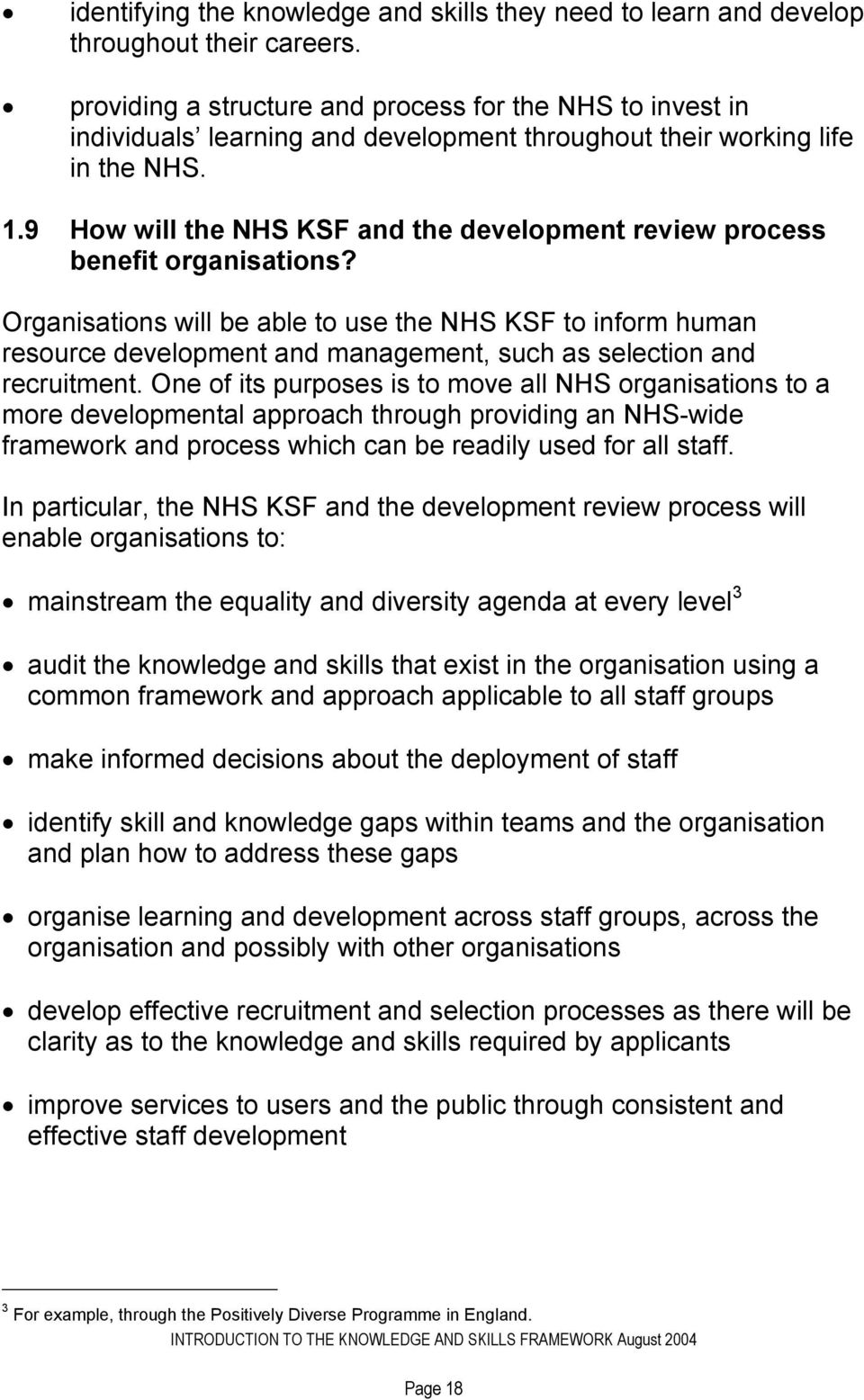 9 How will the NHS KSF and the development review process benefit organisations?