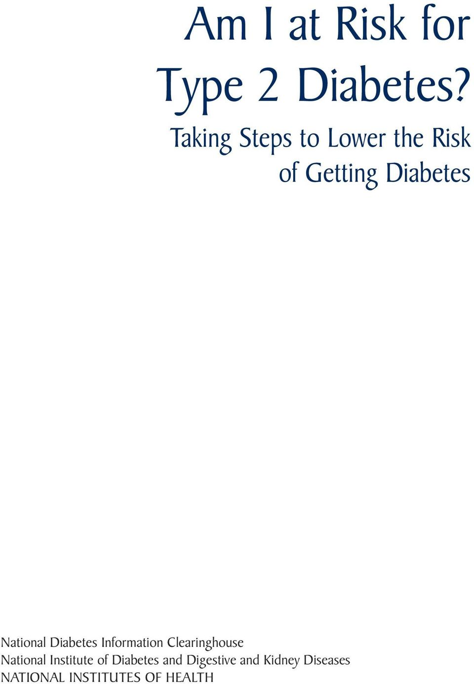 National Diabetes Information Clearinghouse National