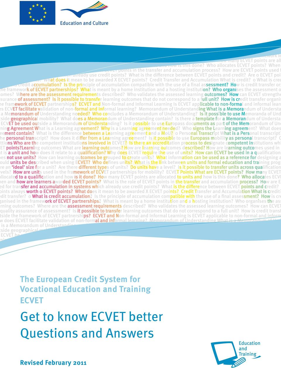 ECVET Get to know ECVET better