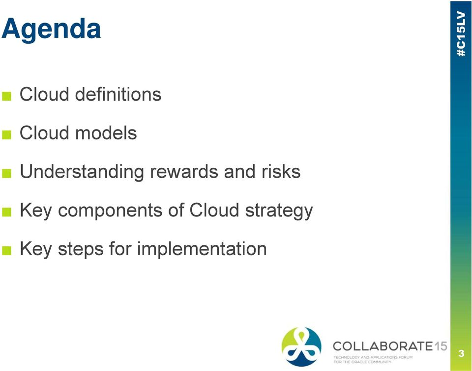 risks Key components of Cloud