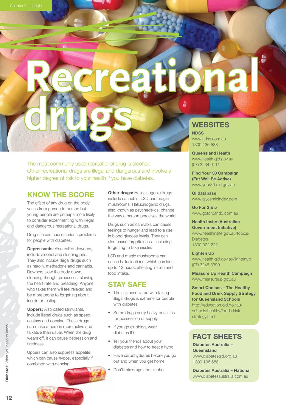 Know the score The effect of any drug on the body varies from person to person but young people are perhaps more likely to consider experimenting with illegal and dangerous recreational drugs.