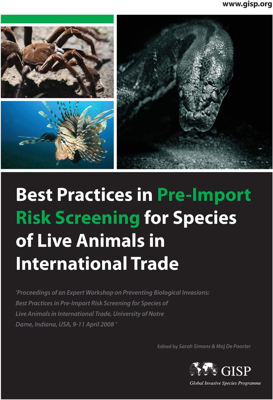 Trade Proceedings of an Expert Workshop on Preventing Biological Invasions: Best Practices