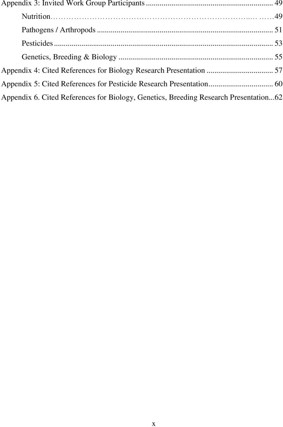 .. 55 Appendix 4: Cited References for Biology Research Presentation.