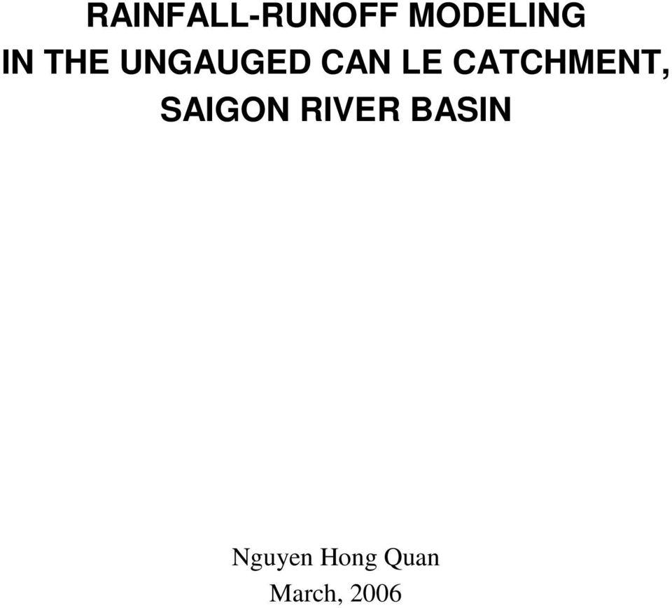 CATCHMENT, SAIGON IVE