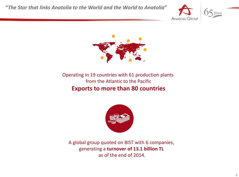 the Pacific Exports to more than 80 countries A global group quoted on