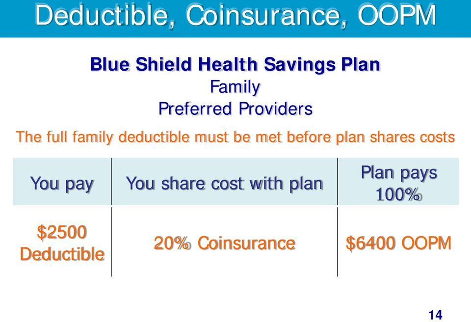 met before plan shares costs You pay You share cost with plan