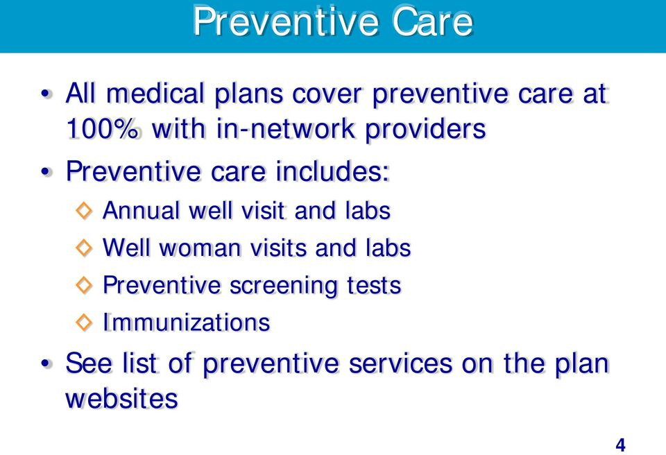 visit and labs Well woman visits and labs Preventive screening