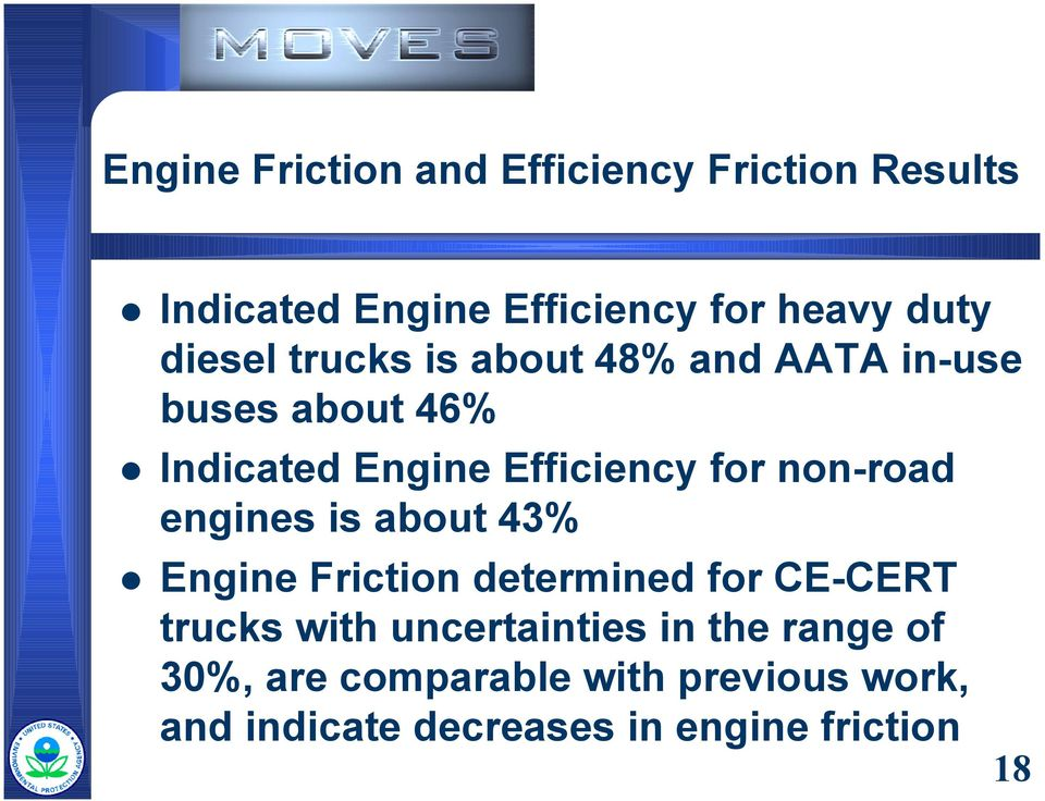 about 46%! Indicated Engine Efficiency for non-road engines is about 43%!