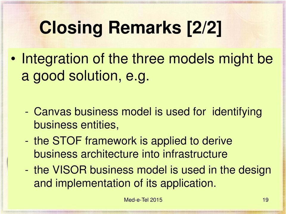 ation of the three models migh