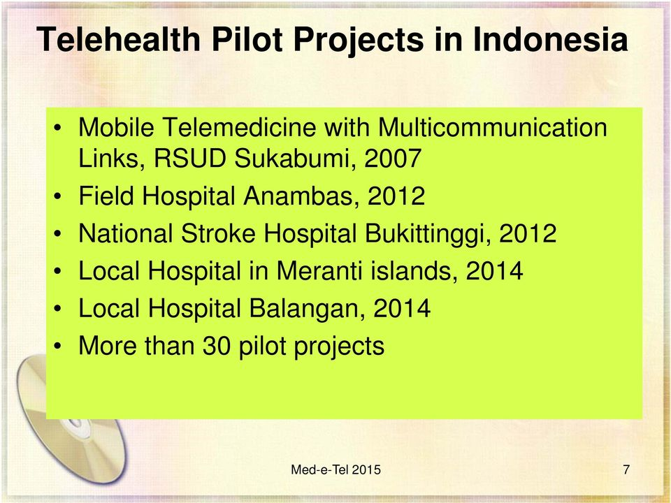 2012 National Stroke Hospital Bukittinggi, 2012 Local Hospital in Meranti
