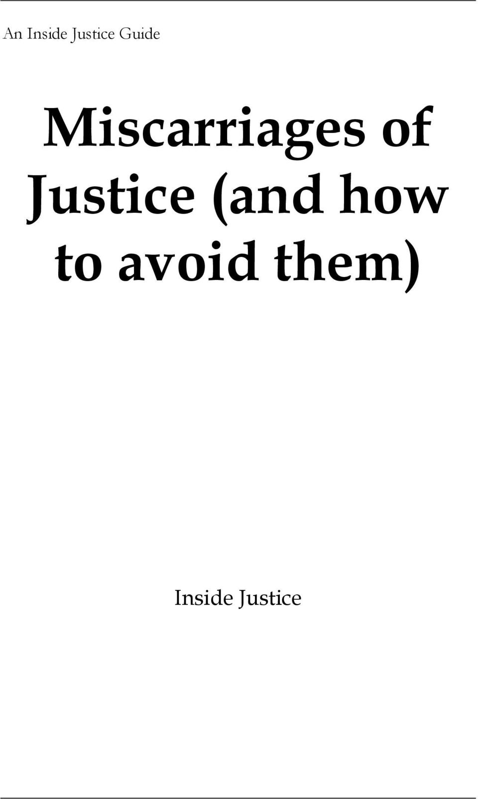 Justice (and how to
