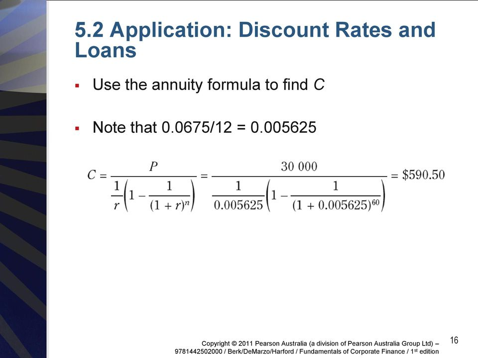 annuity formula to find C