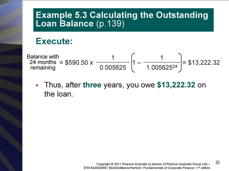 139) Execute: Balance with 24 months remaining = $590.