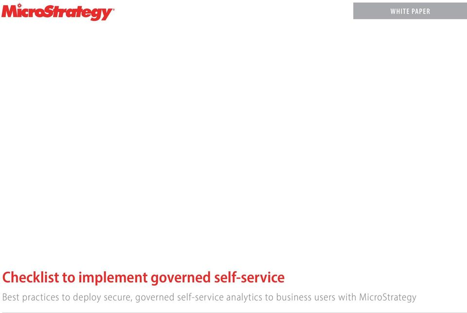 deploy secure, governed self-service