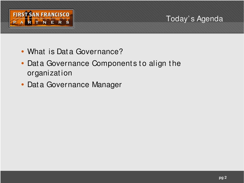 Data Governance Components to