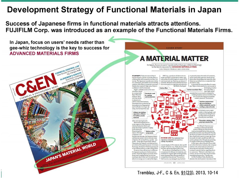 was introduced as an example of the Functional Materials Firms.