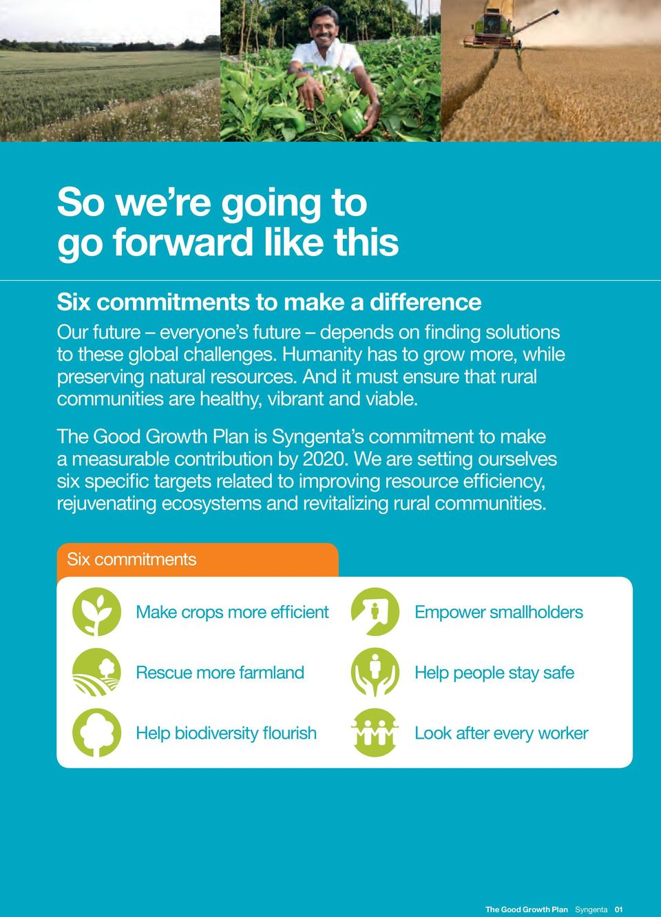 The Good Growth Plan is Syngenta s commitment to make a measurable contribution by 2020.
