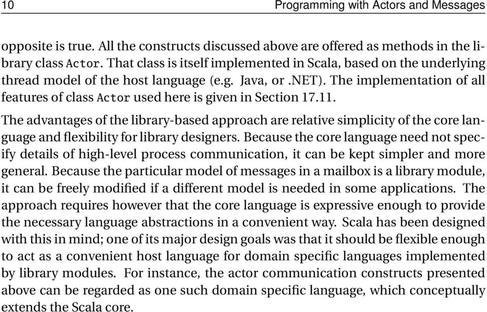 The implementation of all features of class Actor used here is given in Section 17.11.