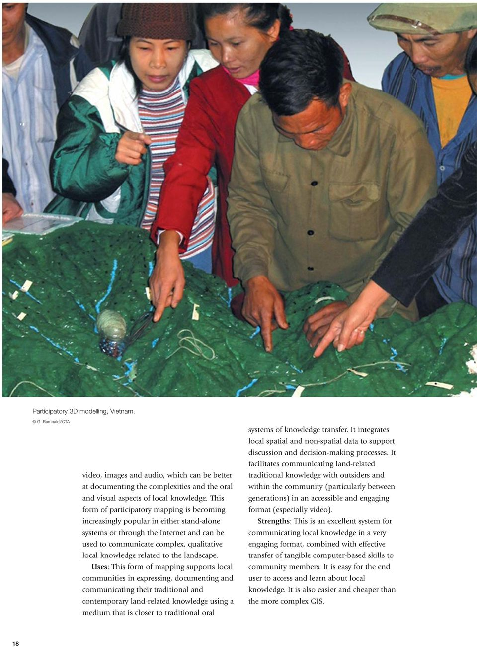 to the landscape.