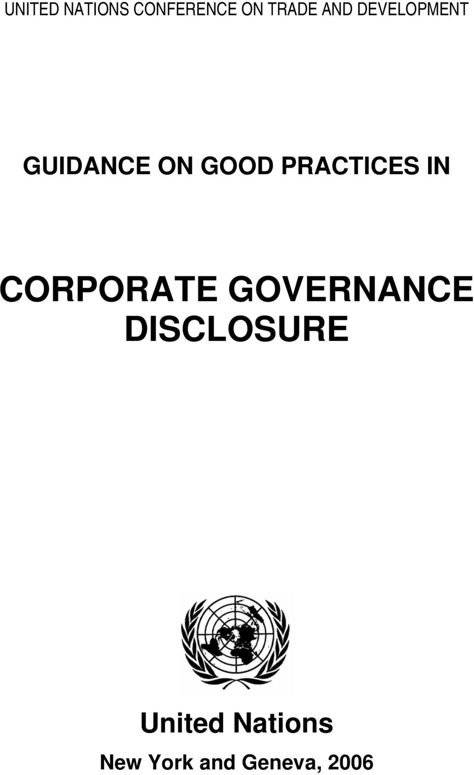 IN CORPORATE GOVERNANCE DISCLOSURE