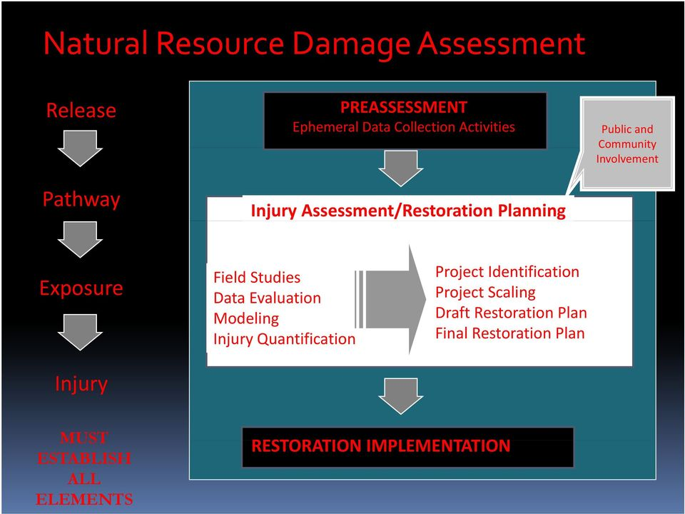 Exposure Injury Field Studies Dt Data Evaluation Modeling Injury Quantification Project Identification