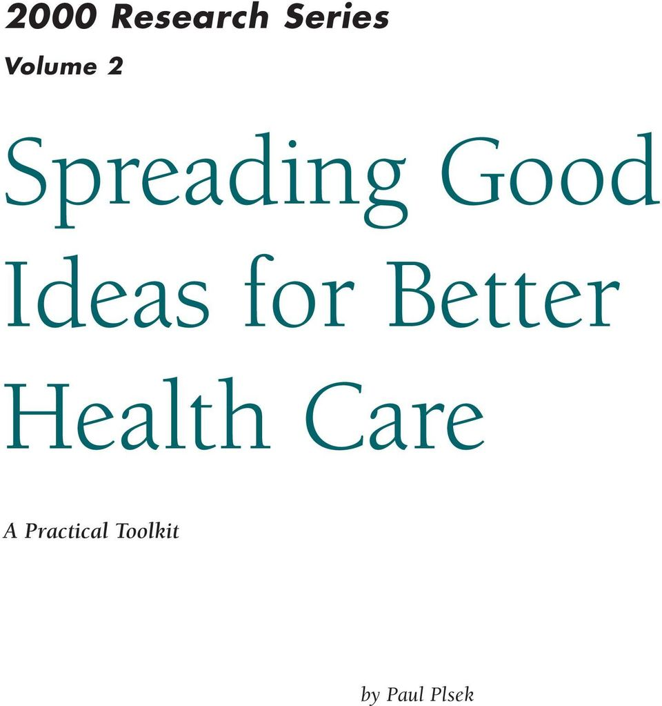 Ideas for Better Health
