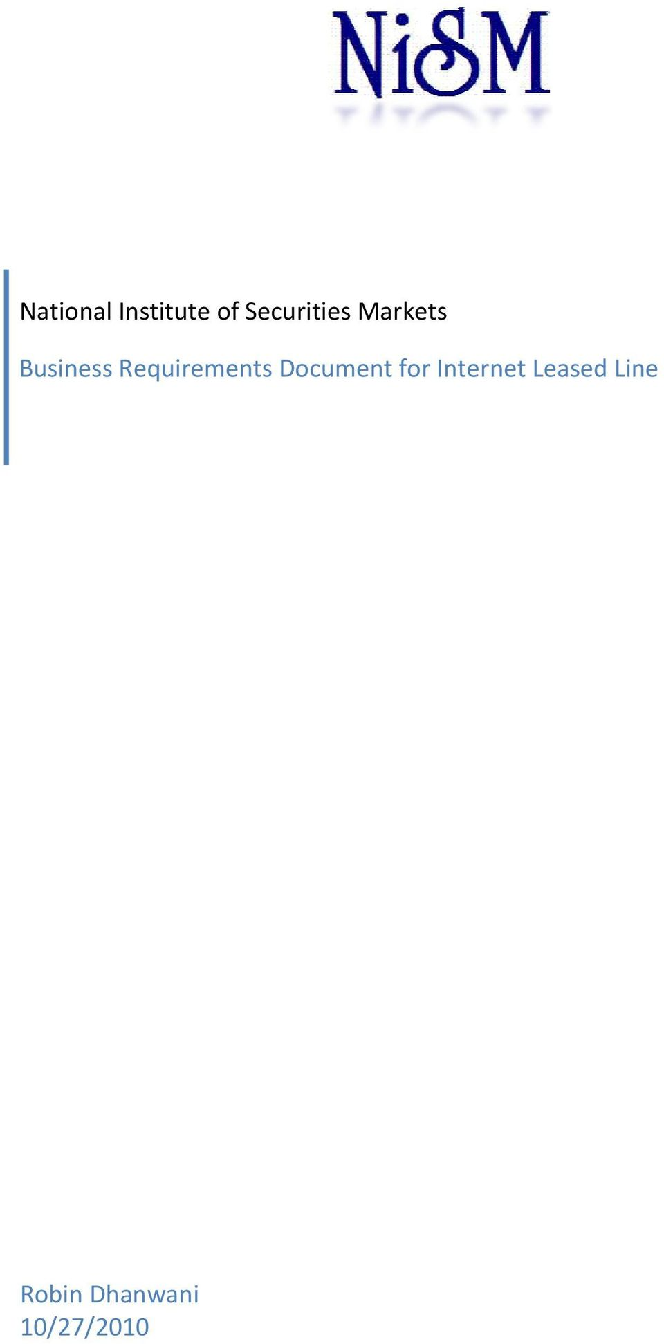 Requirements Document for