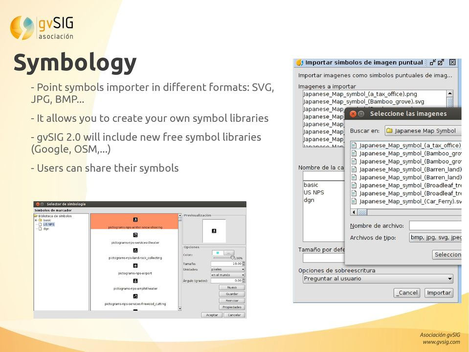 .. - It allows you to create your own symbol libraries -