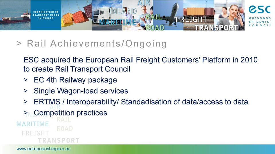 4th Railway package > Single Wagon-load services > ERTMS /