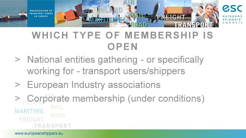 - transport users/shippers > European Industry