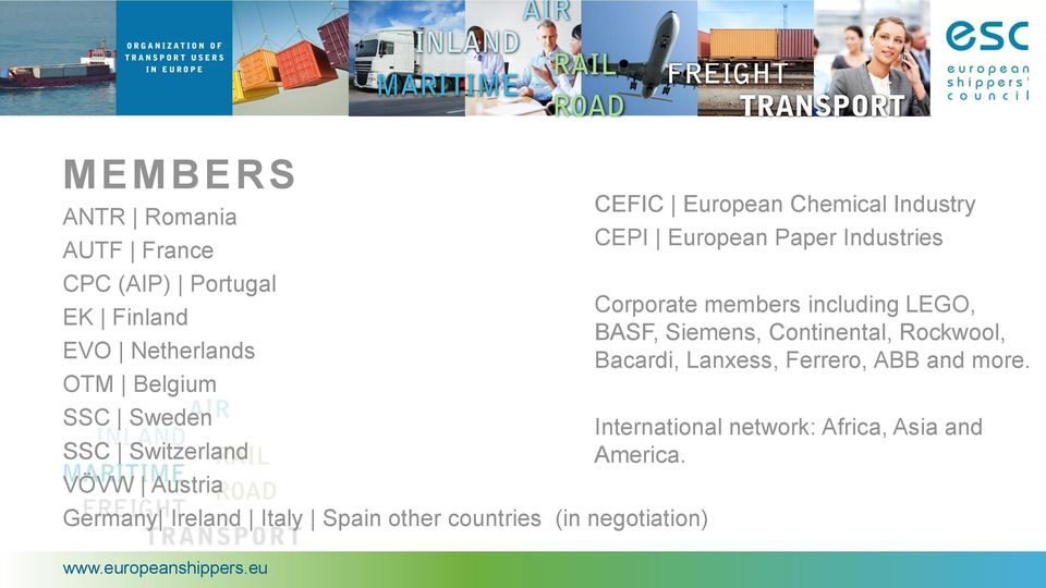 Chemical Industry CEPI European Paper Industries Corporate members including LEGO, BASF, Siemens,