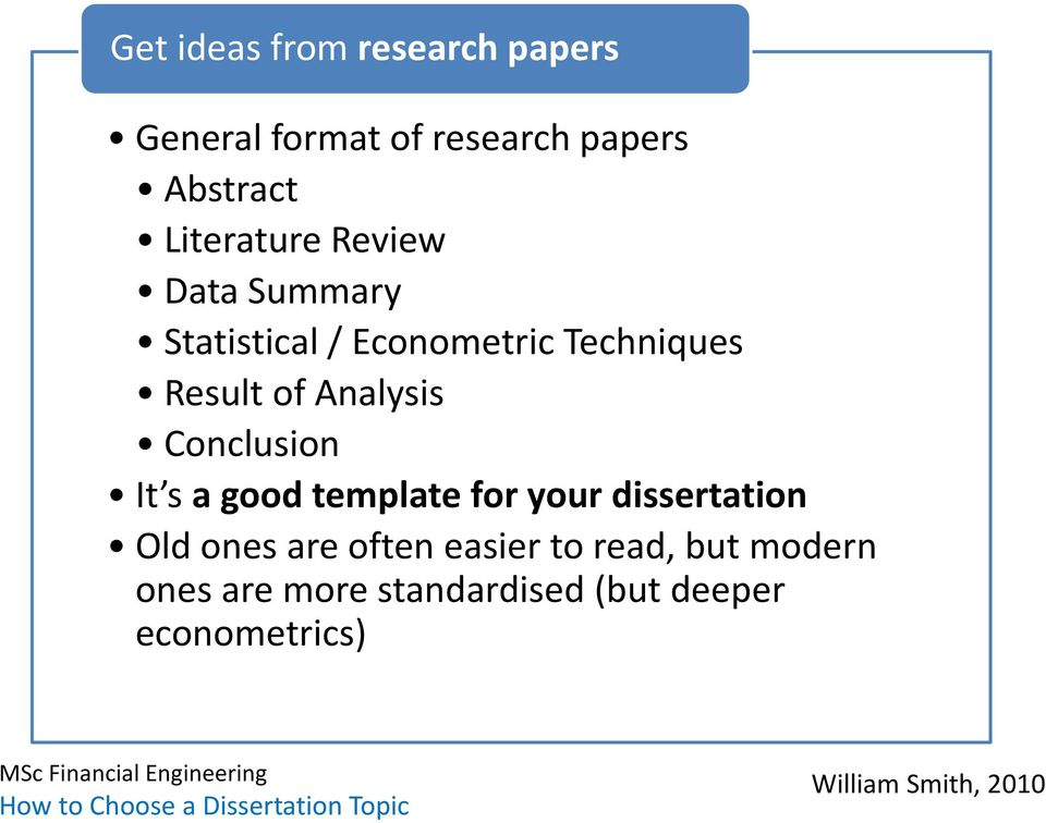Analysis Conclusion It s a good template for your dissertation Old ones are