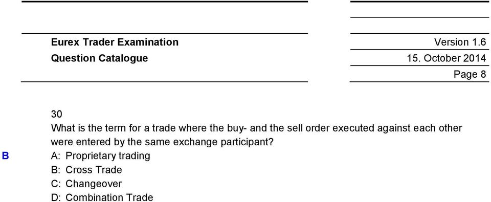 were entered by the same exchange participant?