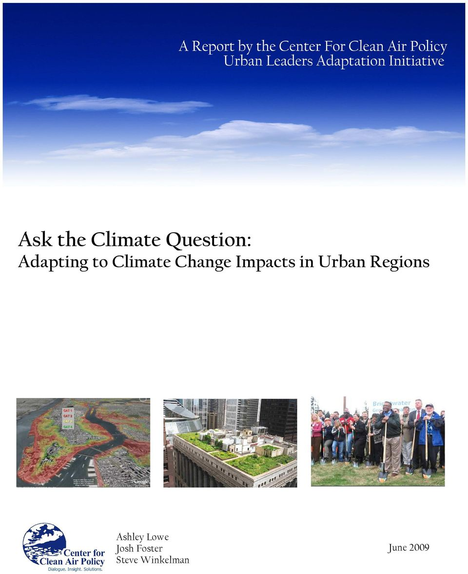 Question: Adapting to Climate Change Impacts in