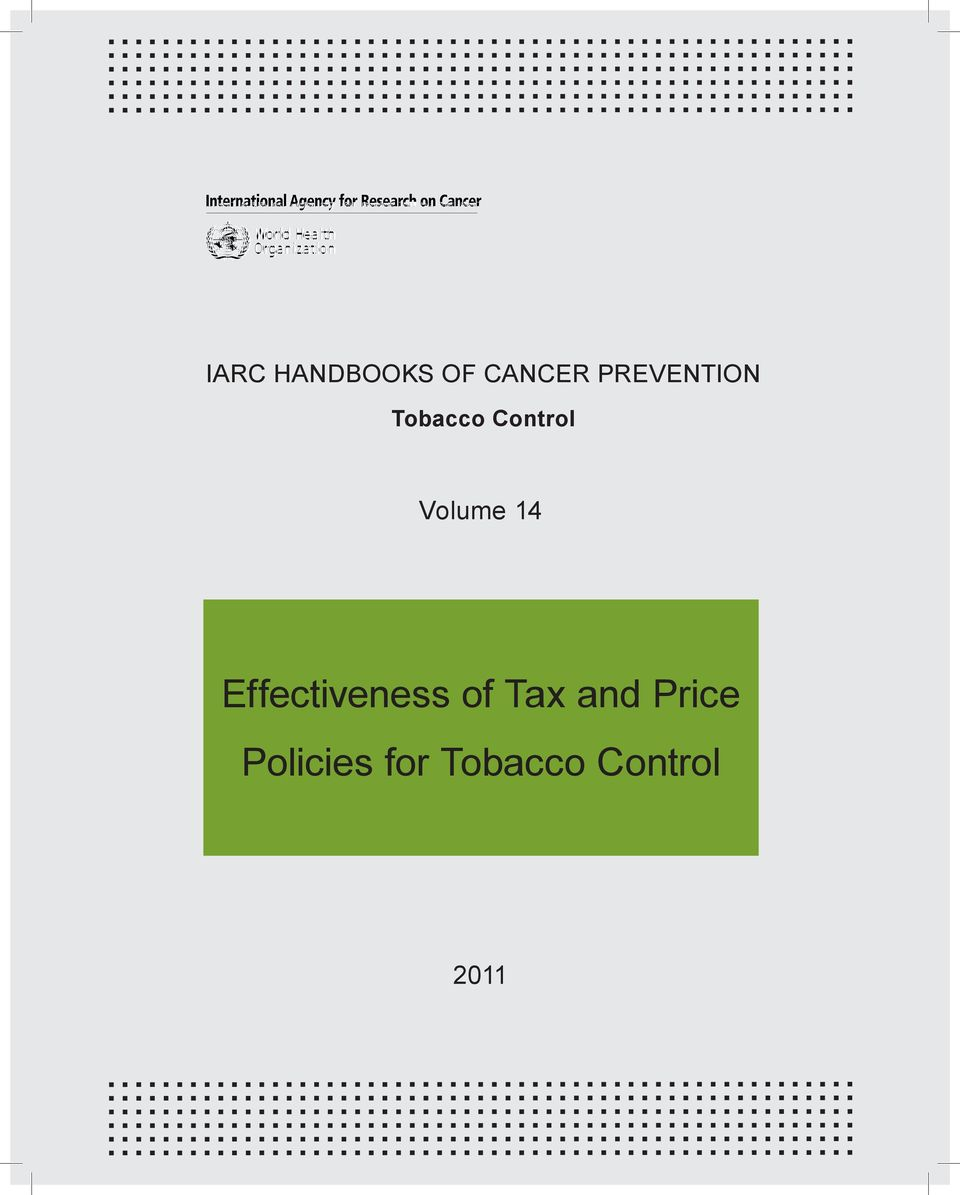 Volume 14 Effectiveness of Tax